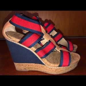 Splendid wedge espadrilles 8.5 like new